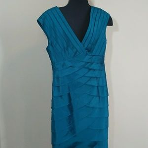 Adrianna Papell Dress Turquoise Size 8